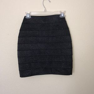 Express Metallic Bandage Skirt